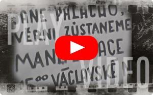 Upálení Jana Palacha – manifestace na Václavském náměstí 20.1.1969 na 8mm filmu