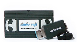 USB flashdisk 64GB - VHS kazeta