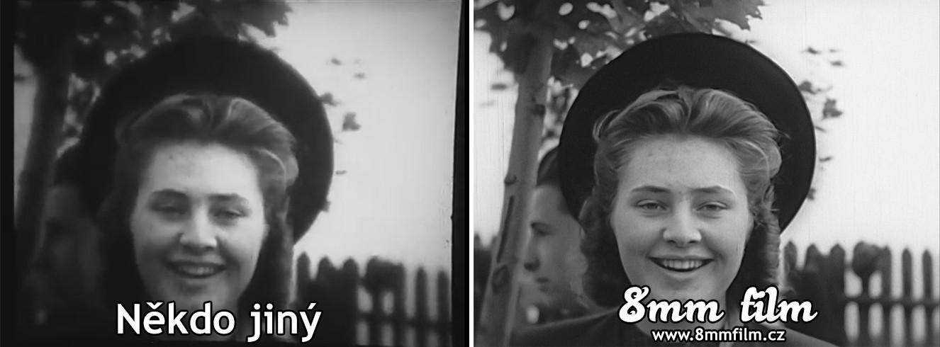Digitalizace 8mm filmu - porovnání